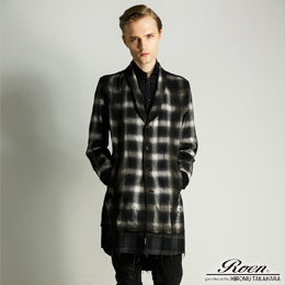 ETHNIC ROCK CHECK COAT 10BK